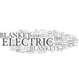 electric blankets or a hot water bottle text vector image vector image