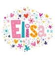 Elisa female name decorative lettering type design vector image vector image