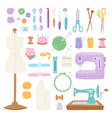 embroidery fancy-work fine needle-work hobby vector image