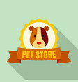 exotic pet store logo flat style vector image
