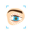 eye iris scan security system modern new vector image vector image