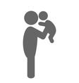 Father and baby pictogram flat icon isolated on vector image