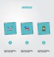 flat icons ribbon military man musical vector image vector image