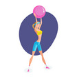 girl engaged exercise therapy exercises with ball vector image vector image