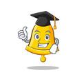 graduation school bell character cartoon