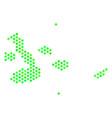 green hexagon galapagos islands map vector image vector image