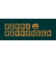 Halloween text calligraphy vector image