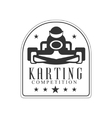 Karting Club Race Black And White Logo Design vector image vector image