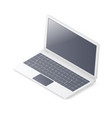 laptop isolated on white background isometric vector image vector image
