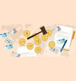 law legal aspect of crypto-currency coin set vector image vector image