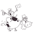 Leprechaun cartoon vector image vector image
