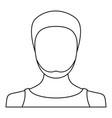 man avatar icon thin line vector image vector image