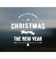 Merry Christmas lettering Season Wishes vector image vector image