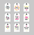 mothers day set of greeting card or shopping tag vector image vector image