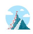 mountain climb path challenge journey base vector image