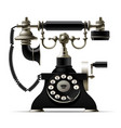 old telephone isolated on white retro rotary dial vector image vector image
