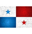 panama flag background for russian soccer event vector image vector image