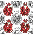 pomegranates black and white for vector image