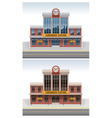 railway station icon vector image vector image