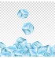 realistic ice cubes on a transparent background vector image vector image