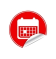 Red sticker calendar vector image vector image