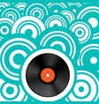 retro background with vinyl record lp vintage vector image vector image
