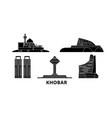 saudi arabia khobar flat travel skyline set vector image vector image