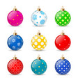 set color christmas balls on a transparent vector image vector image
