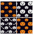 set of seamless patterns for halloween with vector image