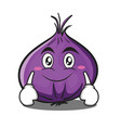 smile red onion character cartoon vector image vector image