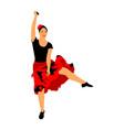 spanish girl flamenco dancer girl vector image vector image