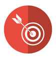 target arrow strategy market shadow vector image vector image