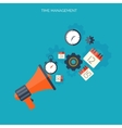 Time management concept World time Business vector image