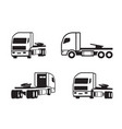 truck tractor in different perspective vector image vector image