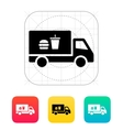 Truck with food icon vector image vector image