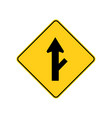 usa traffic road signsroad branching off ahead vector image