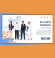 various career character growing business together vector image