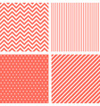vector seamless patterns in living coral color vector image vector image