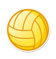 volleyball ball in crtoon style sports activity vector image vector image