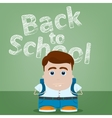 Welcome back to school character design vector image vector image