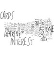 which credit card is the right one for you text vector image vector image