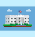 white house building in washington dc america vector image vector image