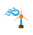 windmill icon energy label for web on white vector image