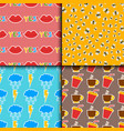 hipster patches elements seamless pattern hand vector image