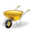 yellow wheelbarrow vector image