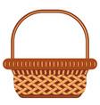 cartoon wicker basket shopping cart icon poster vector image