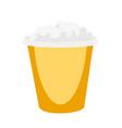 popcorn in yellow box cartoon vector image