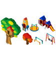 3d design for different stations at playground vector image vector image