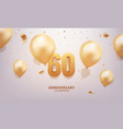 60th anniversary celebration vector image vector image