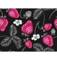 Abstract seamless pattern with strawberries in a vector image vector image